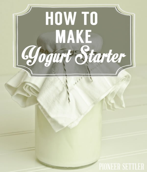 Check out How to Make Yogurt Starter at https://homesteading.com/how-to-make-yogurt-starter/