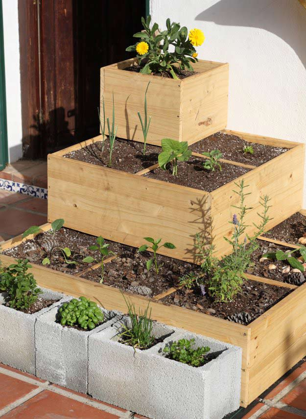 Build a Stacked Square Foot Garden | Incredible Tower Garden Ideas For Homesteading In Limited Space
