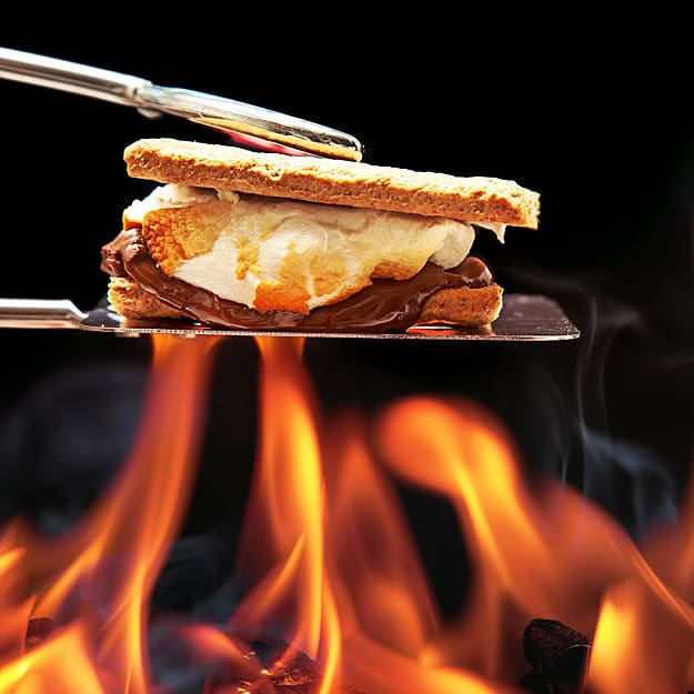 Roasting S'mores | Classical Fun Family Activities Around The Campfire