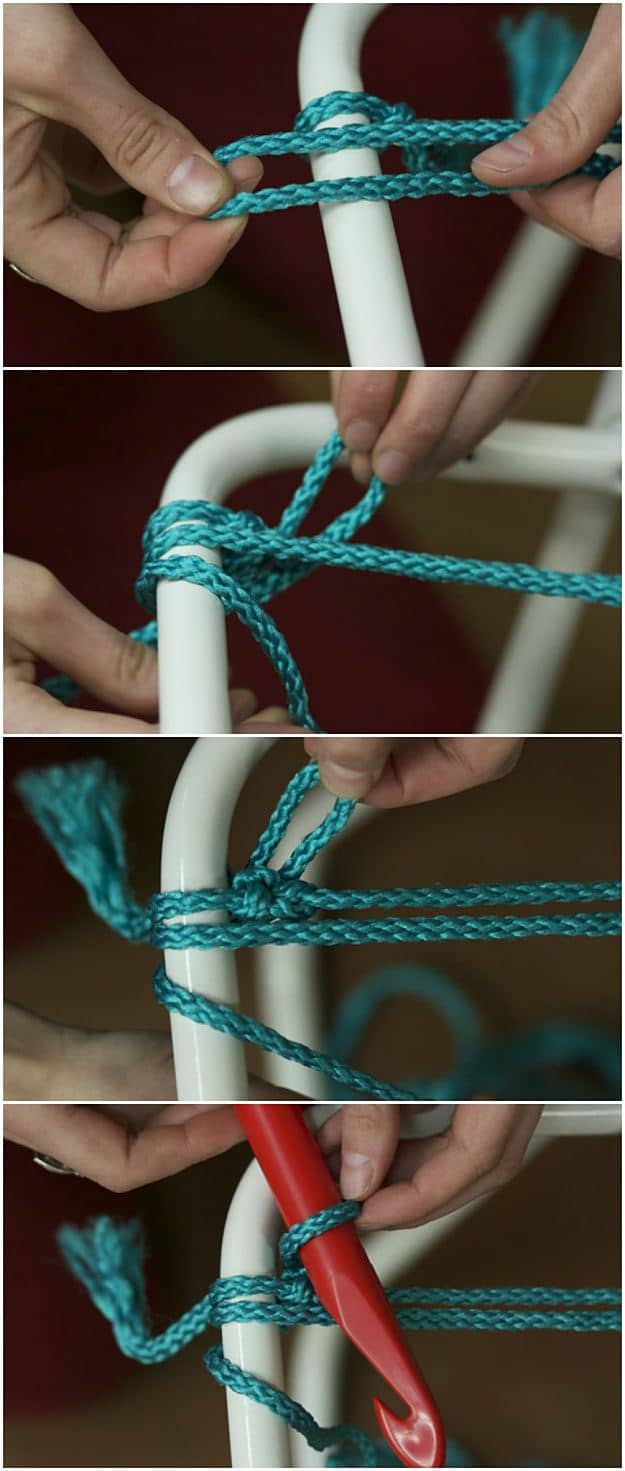 In Comes The Hook | How To Make A Macrame Lawn Chair | Homesteading Skills