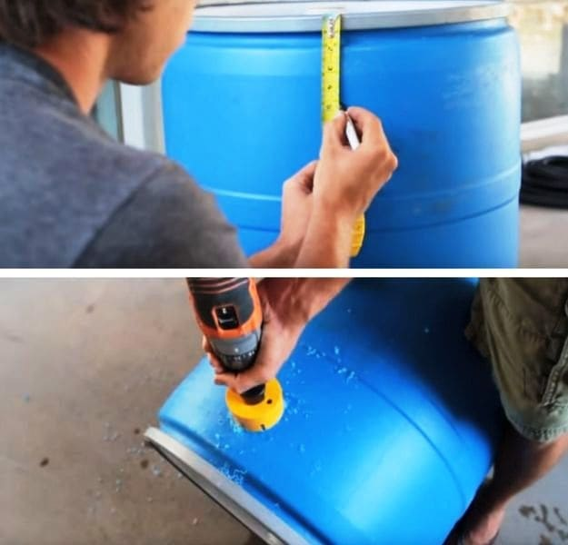 Step 3: Drill The Second Or The Overflow Hole | Make A DIY Rain Barrel And Never Waste Water Again
