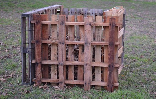 Compost Bin Out of Pallets | 45 DIY Compost Bins To Make For Your Homestead