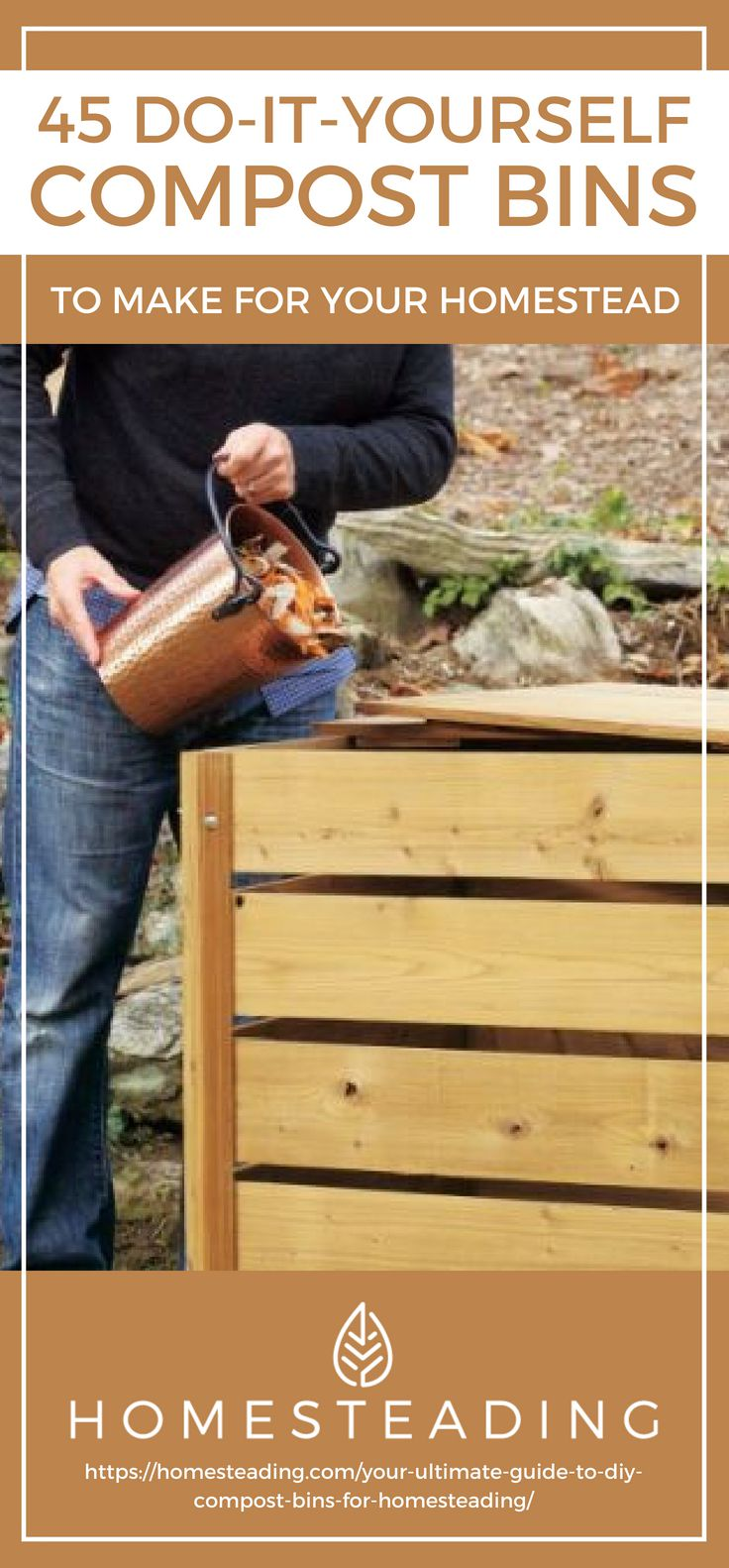 Placard | 45 DIY Compost Bins To Make For Your Homestead