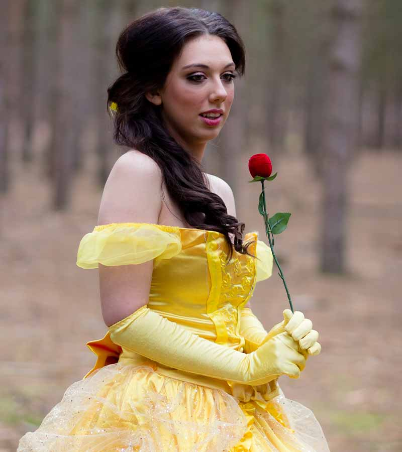 Promotional photos for a company that offers princess parties | halloween costume ideas