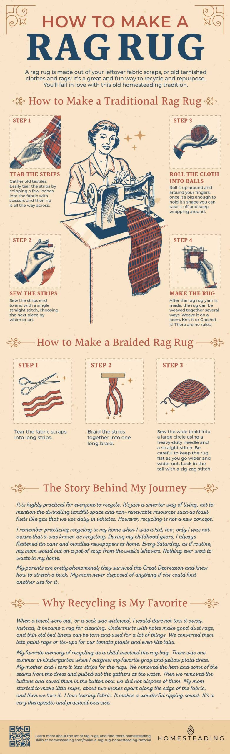 How To Make A Traditional Rag Rug [INFOGRAPHIC]