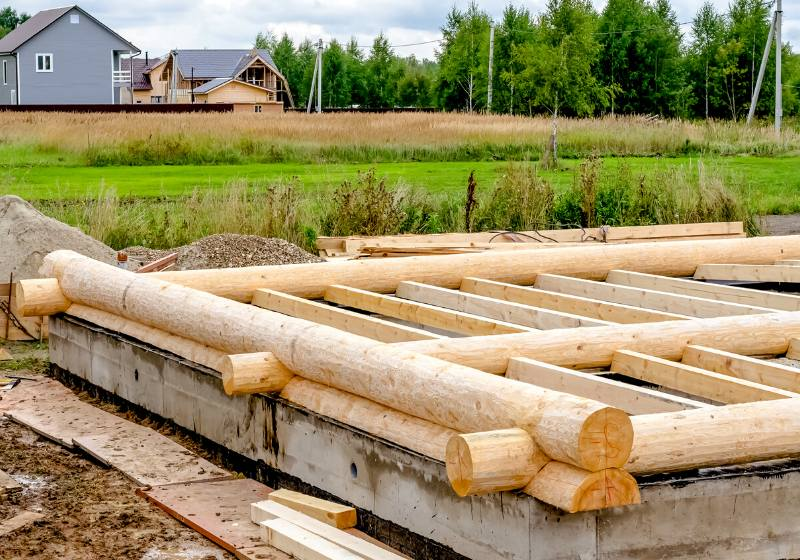 construction log houses   how to build a log cabin from trees