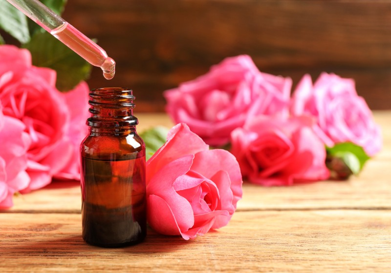 bottle rose essential oil pipette flowers | how to make essential oils at home easy