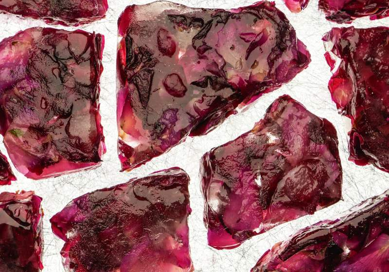 ice blocks rose petals beautiful red | make your own essential oils kit