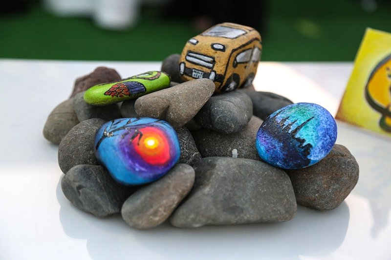 colored stones | Creative Rock Painting Ideas You Can Do With Your Kids | rock painting