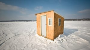 Ice Shanty on Medicine Lake Ice | How To Build An Ice Shanty | Featured
